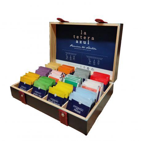Caja Premium Organizadora de Madera 12 huecos (LLENA)